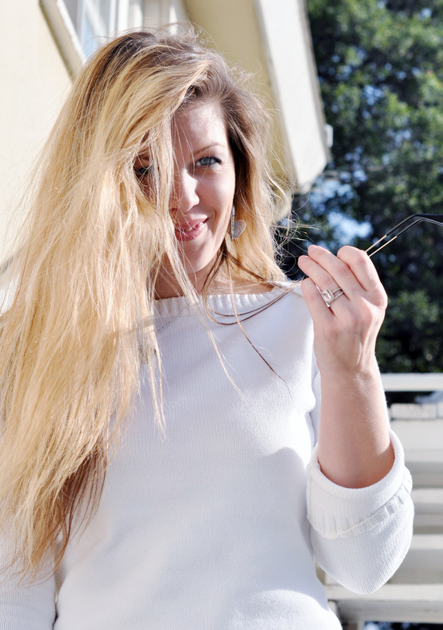 messy hair, long hair, tangled hair, sunglasses, face, smiling, blue eyes, nautical, DSC_0244