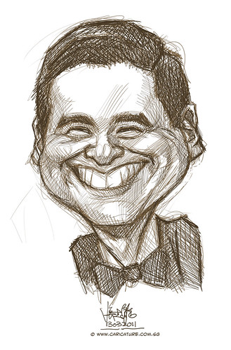 digital caricature sketch of Chow Yun Fatt 3