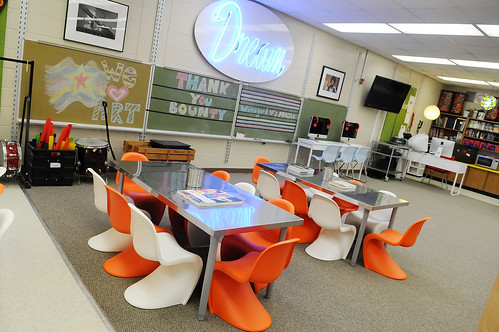 "After shot of Winegard Elementary School's new creative studio as part of the Bounty ""We Love Our School"" $50,000 classroom makeover with design-duo Bob and Cortney Novogratz of HGTV's ""Home by Novogratz"" in Orlando, Florida on March 24, 2011."