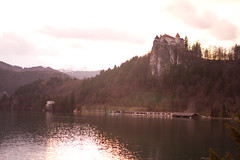 A Castle on a Hill at Sunset (missmareck) Tags: europe slovenia bled bledisland julietandadriangetmarried