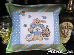 Almofada (flavia_sm1963) Tags: patchwork coelho almofada pascoa bordado aplicaçao