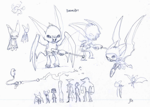 Blazing Bat Concept Sketches