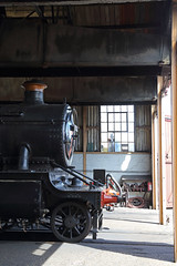 Sunlight in the shed (Treflyn) Tags: gwr mogul 260 5322 shed didcot railway centre great western