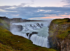 Power and the beauty (Sizun Eye) Tags: evening dusk nightfall landmark gullfoss hvita iceland islande waterfall power beauty nature europedunord northeneurope wildnature twilight leefilters gnd gnd06hard sizuneye nikond750 tamron2470mmf28
