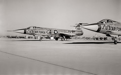 Lockheed F-104 Starfighters (Jeff D. Welker) Tags: skyharborinternationalairportkphx arizona lockheedf104starfighter phoenix airplanephotograph arizonaairnationalguard