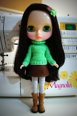 new girl in green
