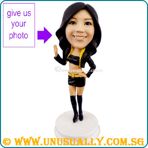 Custom 3D Trendy & Sexy F1 Show Girl Figurine