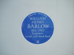 Photo of William Henry Barlow blue plaque