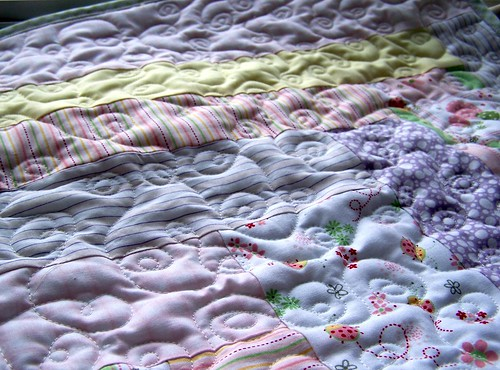 More quilting on the Buggy Baby Quilt