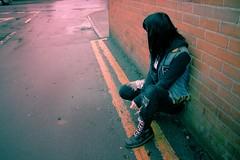 Punk (iiZombie) Tags: black fashion vintage model punk alone loneliness goth retro docmartinszombiedariannebolsonjennyarmeszoegrahamretrovintagepunk zoegraham