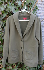 4 Army Green Shawl Collar Fleece