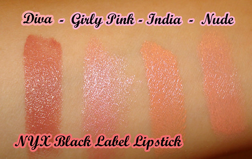 Black Label Lipstick swatches
