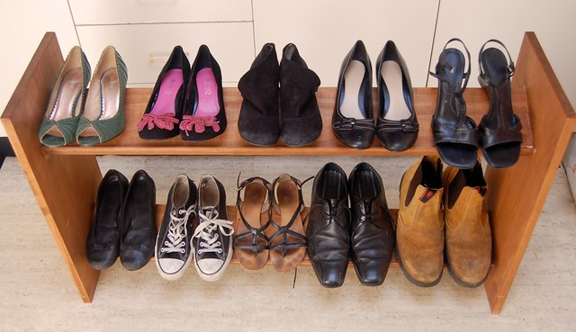 husband's shoe rack