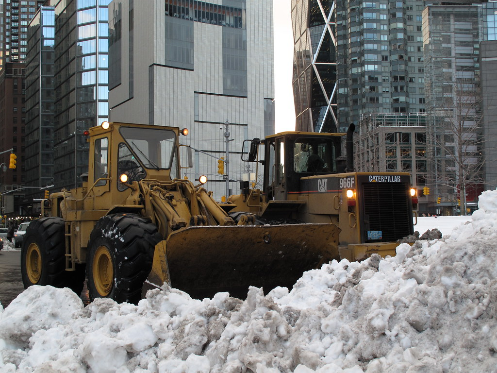 Snow Removal with Wheel Loader
