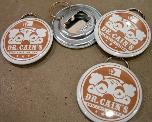 Bottle Cap Opener Keychains for Dr Cain's Comics & Games