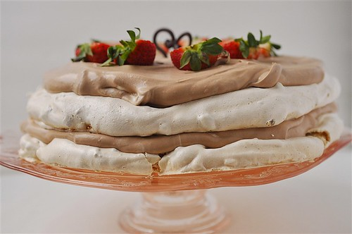 Chocolate Mousse Meringue Dessert