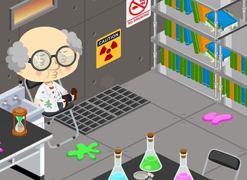 Dr Elijah in his lab