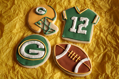 Packers Super Bowl Cookies.