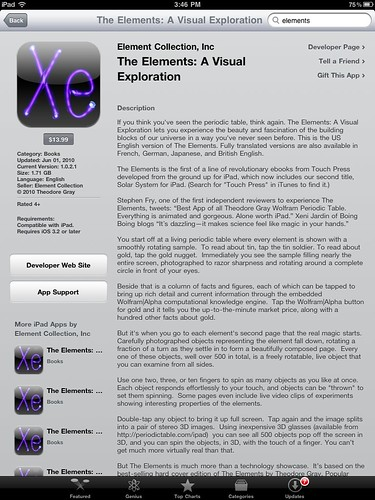 The Elements on iPad
