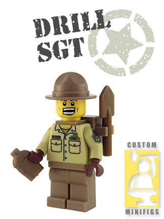 Custom minifig Drill Sgt. custom minifig