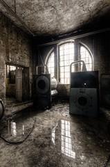 Laundry (GregoireC - www.gregoirec.com) Tags: light reflection abandoned window pentax machine laundry ddr sanatorium lunatic asylum washing hdr k5 urbex sigma1020mmf456exdc irrenanstalt