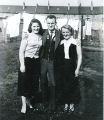Image titled Jim Cameron with Mother and Sister Jessie Ruchill Glasgow 1957