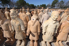 The Terra Cotta Army (mlsnp) Tags: china army texas katy tx houston soldiers warriors terra cotta forbiddengardens qinshihuangdi
