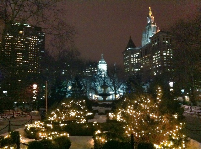 Day 40 City Hall Park at night