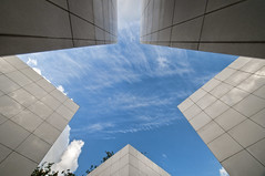 France - Paris - Arab Institute - Entrance star (Darrell Godliman) Tags: travel sky copyright cloud paris france building tourism architecture clouds star nikon frankreich europe geometry entrance eu lookingup maze shape francia institutdumondearabe modernarchitecture ima allrightsreserved arabinstitute nouvel arabworldinstitute jeannouvel rpubliquefranaise contemporaryarchitecture travelphotography fivepointedstar awi instantfave omot travelphotographer flickrelite dgphotos darrellgodliman wwwdgphotoscouk d300s nikond300s dgphotosparis franceparisarabinstituteentrancestardsc4676