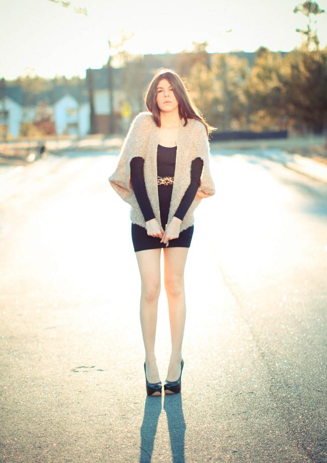 fashion, lbd dress, american apparel body con, aldo heels