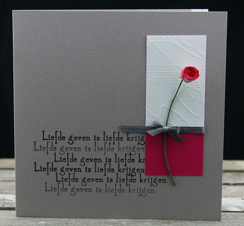 liefde geven is....