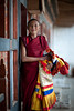 A Monk at the Wangdue Dzong (samthe8th) Tags: gold three costume cool sam bhutan monk hero winner dzong uncool day3 wangdue cool2 cool5 cool3 cool6 cool4 d700 flickrchallengewinner cool7 uncool2 cool8 iceboxcool storybookwinner