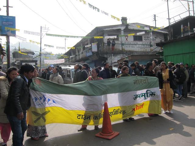 Gorkhaland protestors