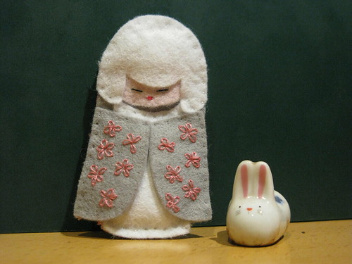 White Kokeshi