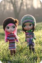 Girls in Megipupu stripes...