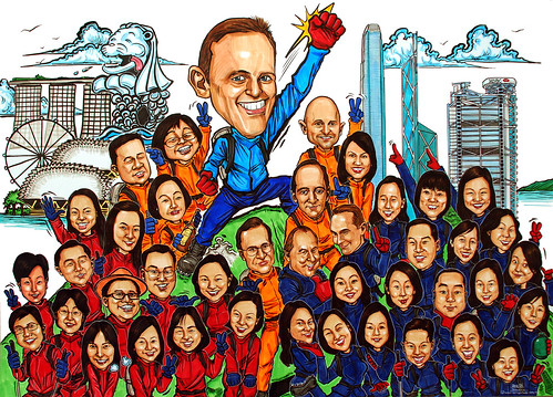 Group caricatures for UBS