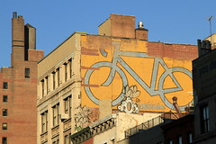 sadue (Luna Park) Tags: nyc ny newyork rooftop bike bicycle graffiti manhattan ufo camo panasonic advertisement biking lunapark sadu 907 serf