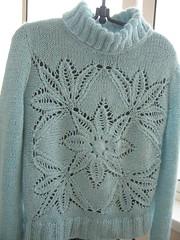 Как связать пуловер морозный узор