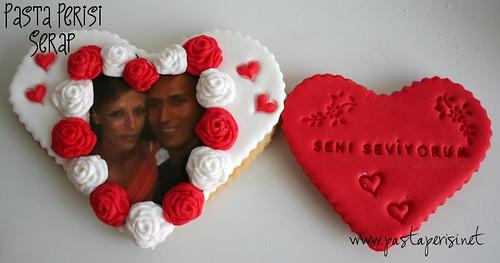 Sevgililer günü- Resimli kurabiye
