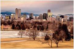 Denver Skyline in Winter Light (glness) Tags: storm mountains skyline iso800 colorado downtown cityscape snowstorm denver f56 canonef24105mmf4lis 145sec canon7d gregness 104mmequivalent