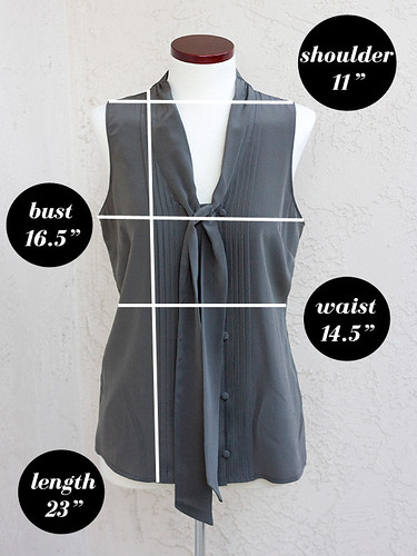 Ann-Taylor-Silk-Tie-Blouse-Measurements