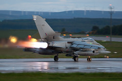 "ZA405 Tornado GR4 ""Evening Departure"" May09 (PhoenixFlyer2008) Tags: speed scotland haze military air jet fast heat jelly 12 xv burner tornado raf moray airbase squadron 617 lossiemouth panavia gr4"