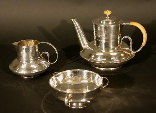 An Edwardian Liberty Cymric silver teapot (£1,000 to £1,500)