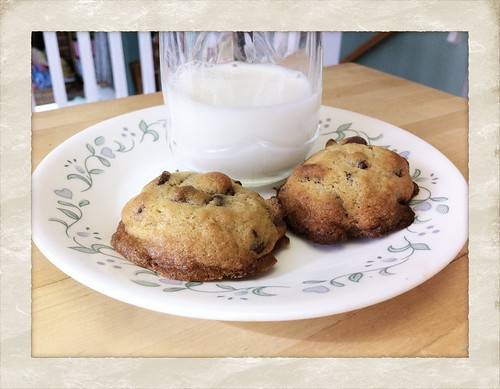 Milk and cookies for cranky children