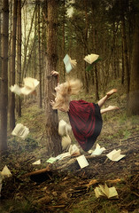 In Dreams We Do (*iNiNa* Tracey Barrow Photography) Tags: mist fog forest hair woods dress levitation books story dreams stories flick enchantment missaniela brookeshaden