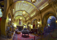 The Twilight Zone Tower of Terror - Hollywood Tower Hotel Lobby (Todd Hurley (Todd_H)) Tags: orlando florida ghost elevator fisheye waltdisneyworld hdr atmospheric bellhop towerofterror twilightzone hollywoodtowerhotel thrillride toddh darkride baylake castmember nikcolorefexpro sigma15mmf28exdg canon5dmark2 thhphotography photoshopcs5
