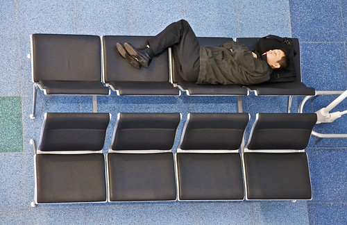 Sleeping in the new Haneda terminal