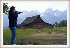 Kevin points (ChiefParker) Tags: grandtetons mormonbarn mormonbarns