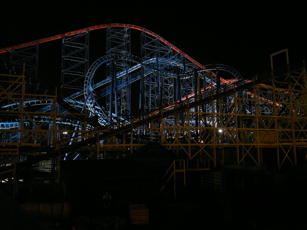 Roller Coaster by Night shot with Nokia N8 smartphone digital camera