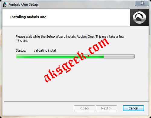 Audial One Setup 5 installing..